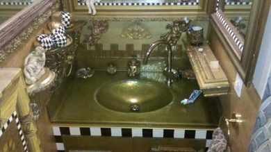 Gold Oval Integral Sink