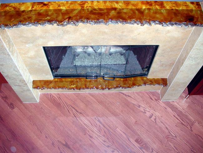 Amber Squares Mantle