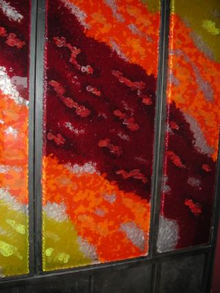 Orange Yellow and Red Cast Cane Panels