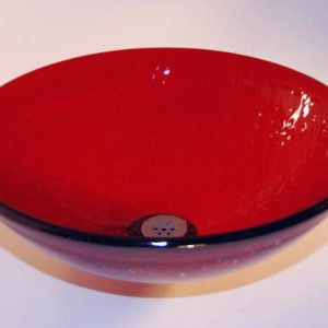 Red Low Profile Vessel