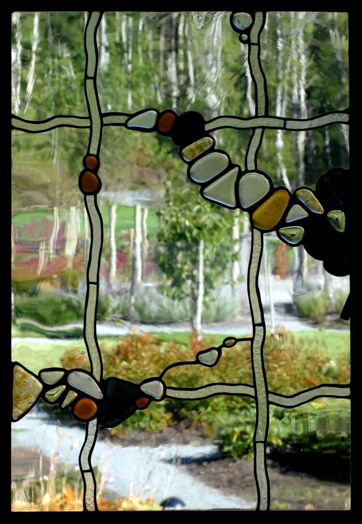 porch window with pond